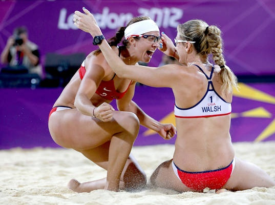 Best sports team, athletes ever!  Misty May-Treanor and Kerri Walsh-Jennings