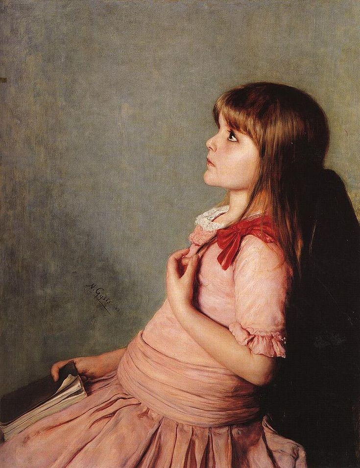 "Nikolaos Gyzis - ""Learning by heart"" 1883"
