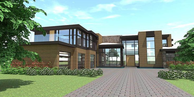 Modern Living - 44106TD   1st Floor Master Suite, Bonus Room, Butler Walk-in Pantry, CAD Available, Corner Lot, Den-Office-Library-Study, In-Law Suite, Loft, MBR Sitting Area, Metric, Modern, Mountain, PDF, Photo Gallery, Prairie   Architectural Designs