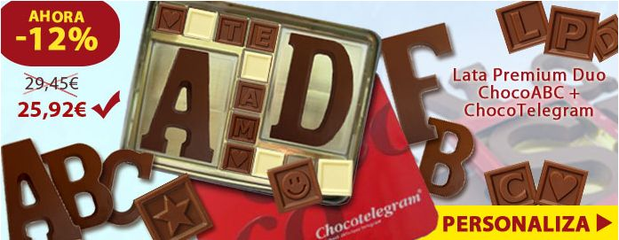 ¡Comience el día para hacer sonreír a alguien que ofrece un regalo único en el chocolate!