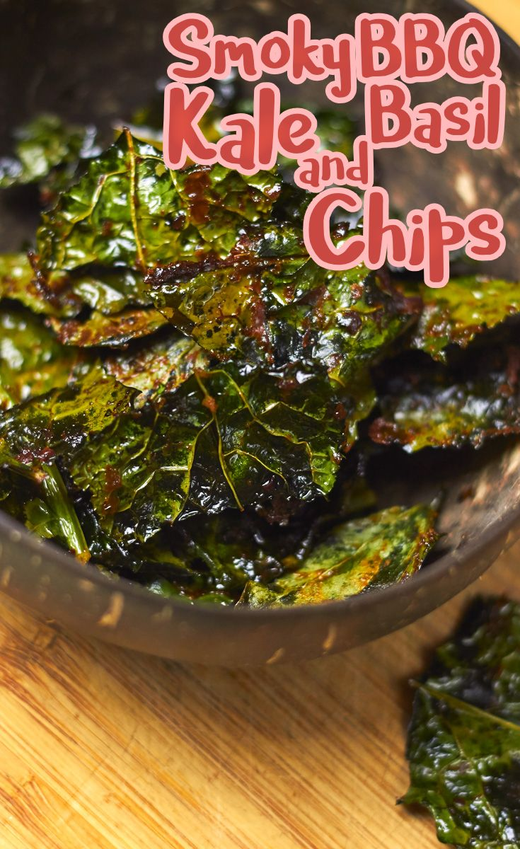 Smoky BBQ Kale and Basil Chips! Delicious treats for any time of the day.