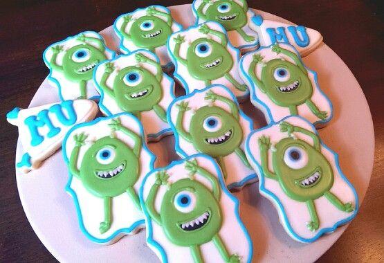 Tutorial! Monster University cookies - #mike #monstersinc