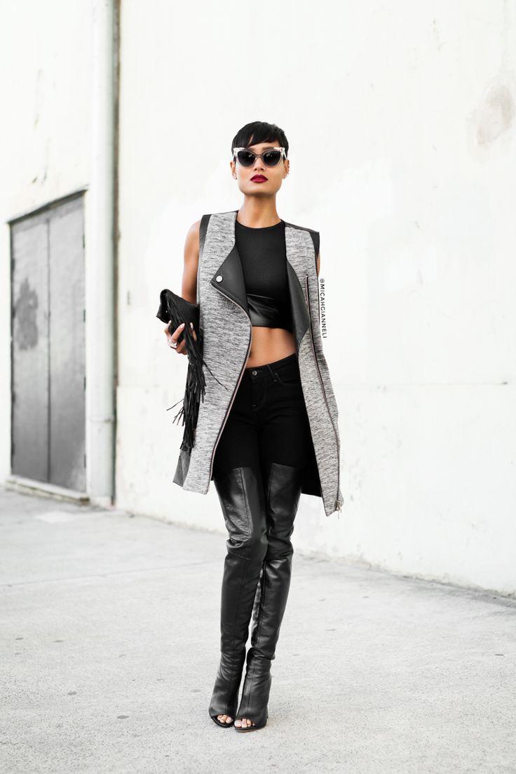 Micah Gianneli_Best top fashion blog_Rihanna Riri style_Street style editorial_Asilio_Saxony_Tony Bianco_Pared Eyewear_Barbara Bonner_Black fashion editorial_Androgynous model editorial