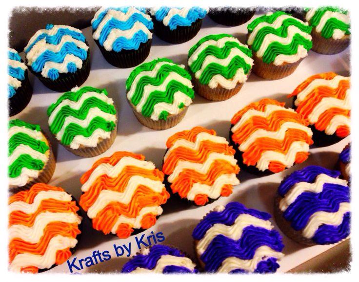 Chevron cupcakes