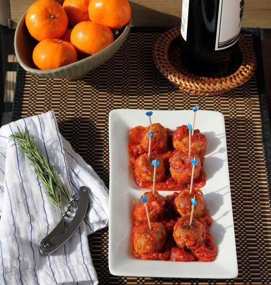 Turkey Pesto Meatballs with Tomato Sauce | Recipe