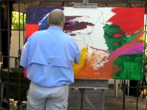 ▶ Abstract Expressionist Artist Patrick Gaughan - YouTube