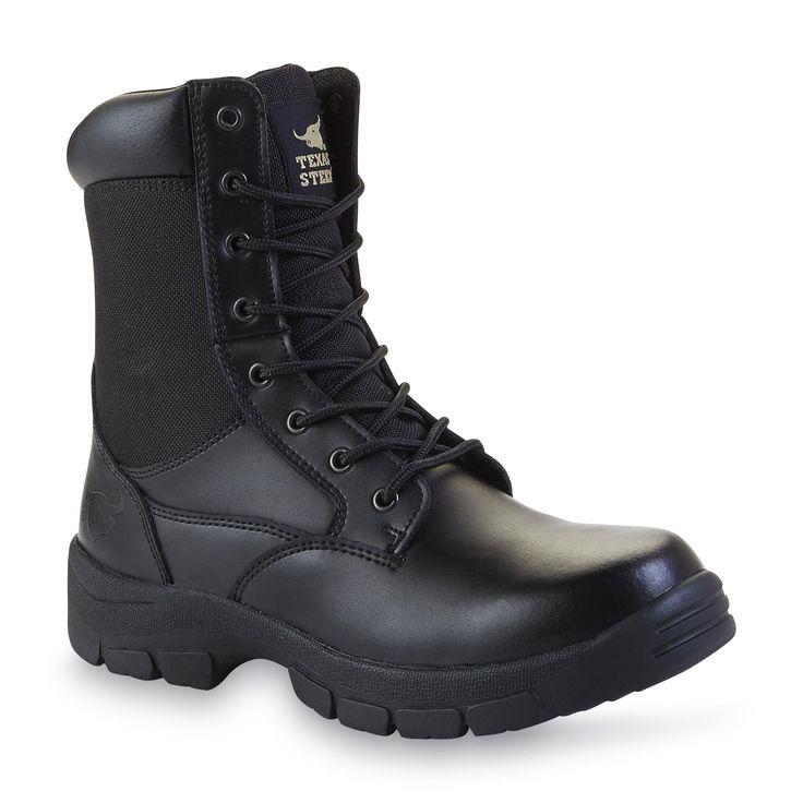 "Texas Steer Men's Kadmus 3 Black Leather Soft Toe 8"" Swat Boot"
