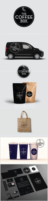 Create a warm logo for The Coffee Box - fresh coffee subscription start up by ReyvanJaya