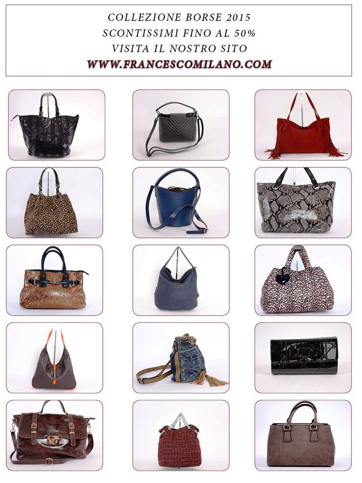 #Francescomilano #Collection #Bags #Woman SALE UP TO 50% www.francescomilano.com