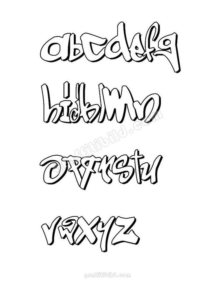 best graffti fonts letters az lowercase alphabet in 2020