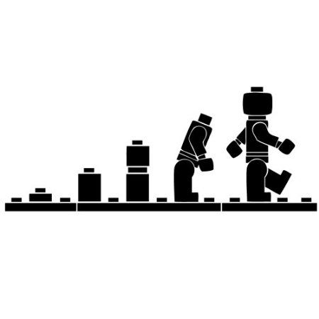 Lego Evolution Wall Sticker Bedroom Decal Small 57cm Wide. Black: Amazon.co.uk: Kitchen & Home