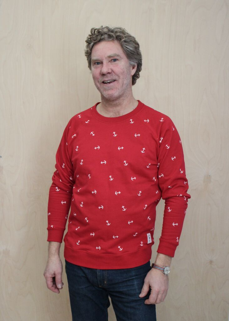 Sweater Anchorpattern Red