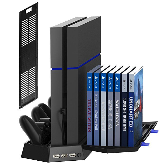 Kootek Vertical Stand For Ps4 Slim Regular Playstation 4 Cooling