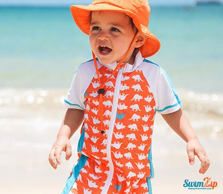 Sun Protective Swimsuits - full body sunsuits by SwimZip.  Best Boys Swimwear