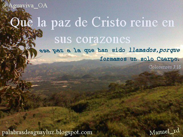 La paz de Cristo Colosenses 3-15