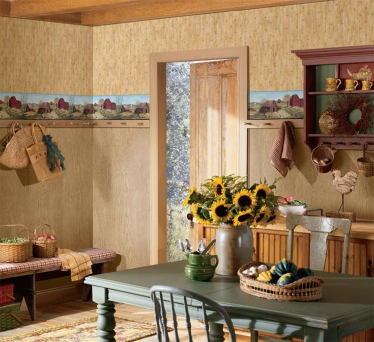 3 Colors Option For Country Kitchen Wallpaper: 47 Best Images About Country Decor On Pinterest