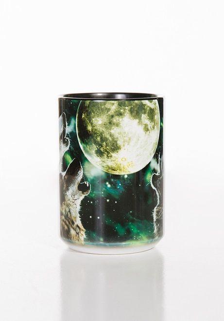 Three Wolf Moon Ceramic Mug