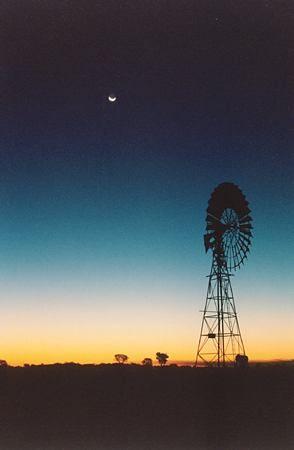 Australian outback windmill Central Australia. adventure-tours-australia.com