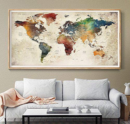 39 best amazon world map images on pinterest world maps extra world map wall art world map poster world map push pin gumiabroncs Image collections