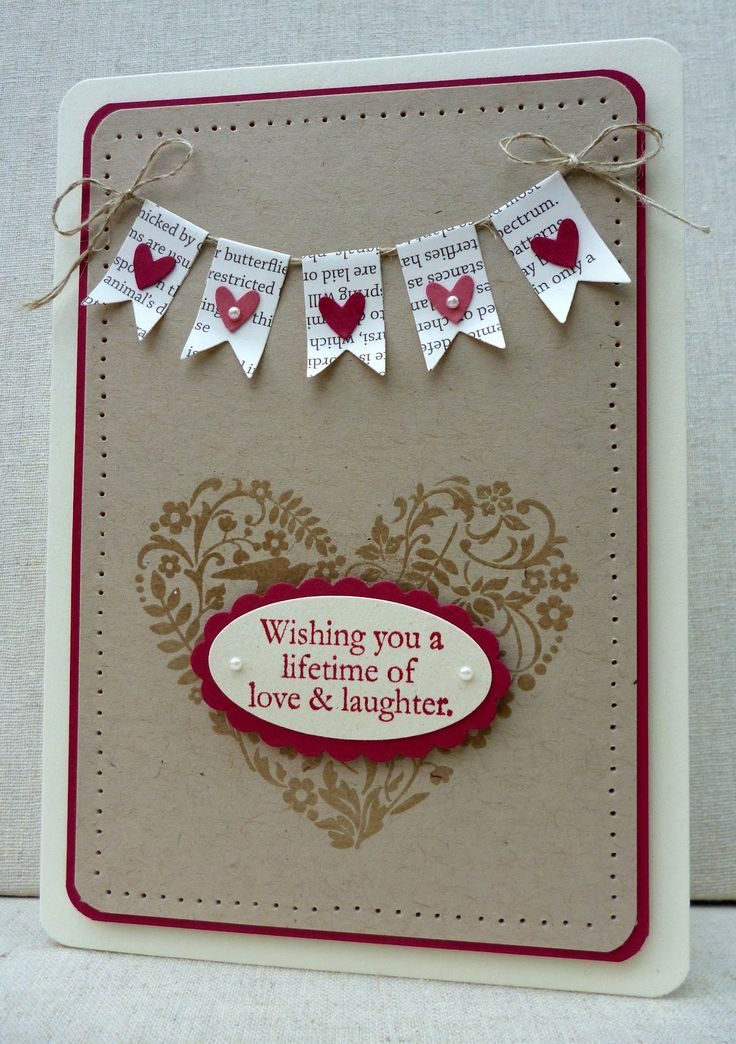 Great wedding card - different sentient would make it a great valentines card!