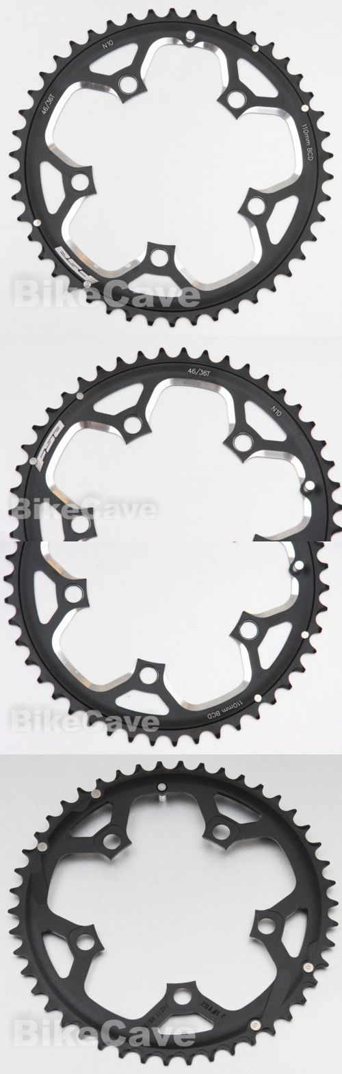 Chainrings and BMX Sprockets 177811: Fsa 46T 110 Bcd Chainring Black Aluminum Ramped And Pinned 10 Speed N10 46 Tooth -> BUY IT NOW ONLY: $34.99 on eBay!