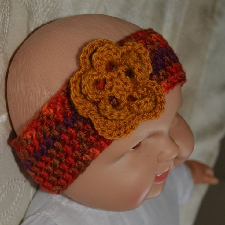 Fita com flor - headband with flower by PatichaCrafts on Etsy