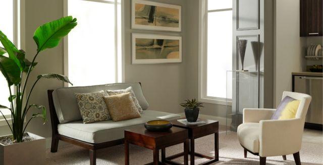 Trendige Farben für die Wohnzimmerwände – 25 Ideen ...