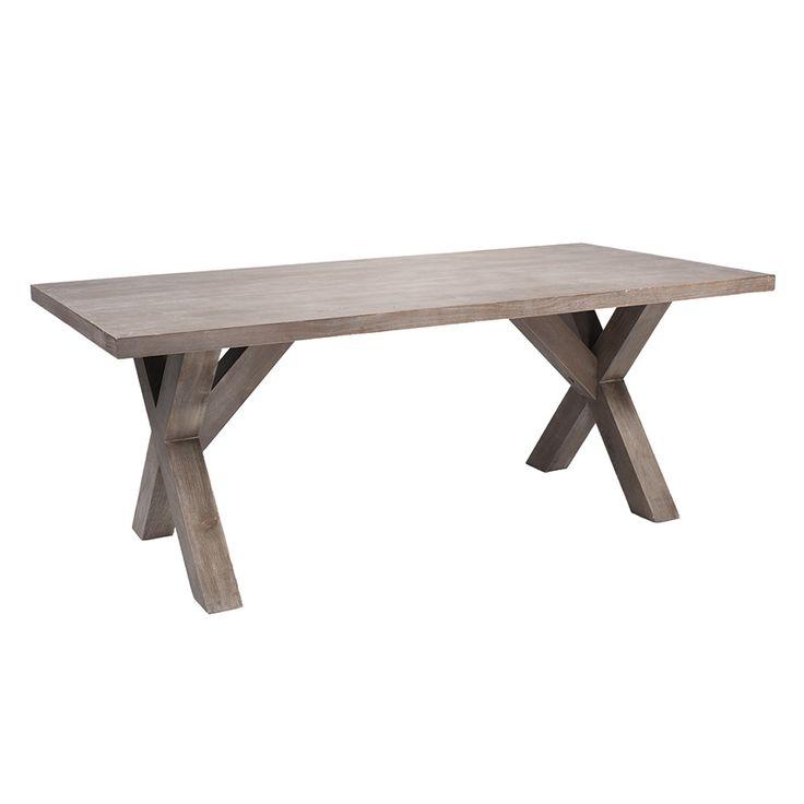 Nydelig spisebord i hel tre med kryss ben. For mer info og bestilling: www.krogh-design.no