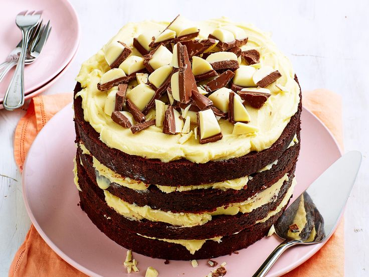 This cake is for the real chocolate lovers. Layered with lashings of white chocolate ganache, this decadent choc-coffee cake is not for the faint-hearted.