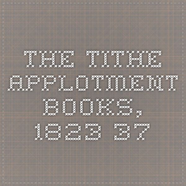 how to read the tithe applotment books