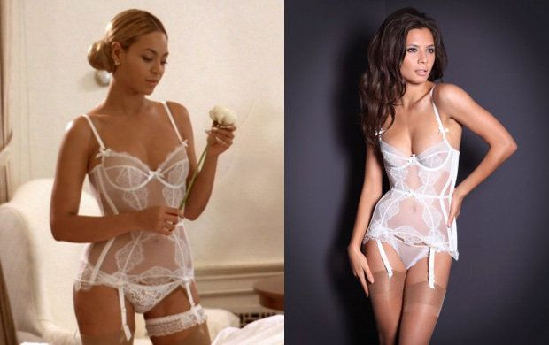Beautiful bridal underwear, A P as worn by Beyonce in every video.