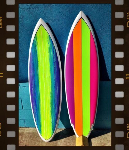 Surfboard-Girl With A Surfboard   Fashion - Neon   Pinterest  Neon Surfboards