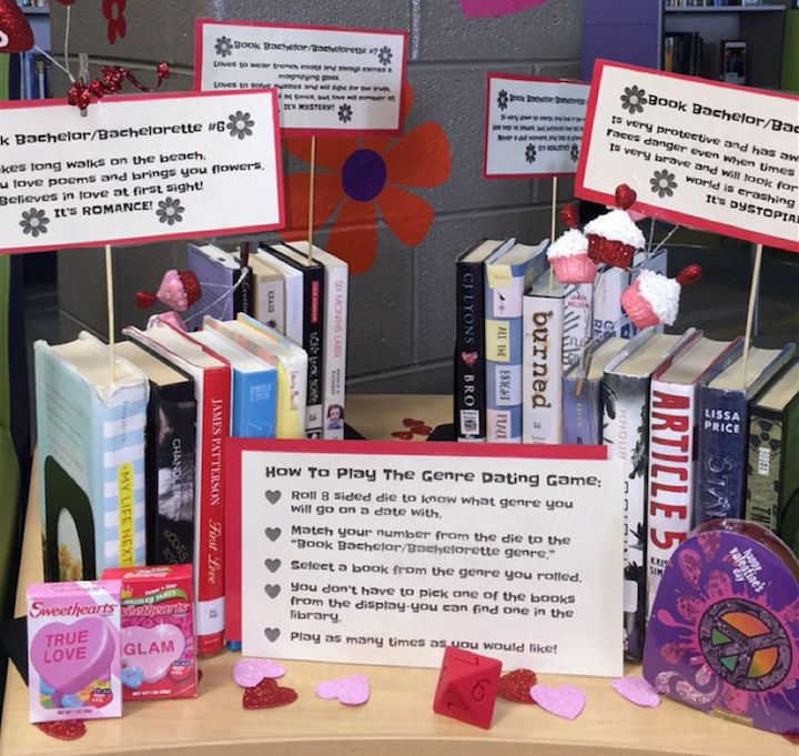 The True Adventures of a High School Librarian: The Genre Dating Game Comes To The JCHS Library!