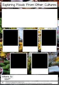 HARMONY DAY PHOTO STORY TEMPLATE - Exploring Foods From Other Cultures - Photo Story Template by ECEC Quality Designed for Harmony Day