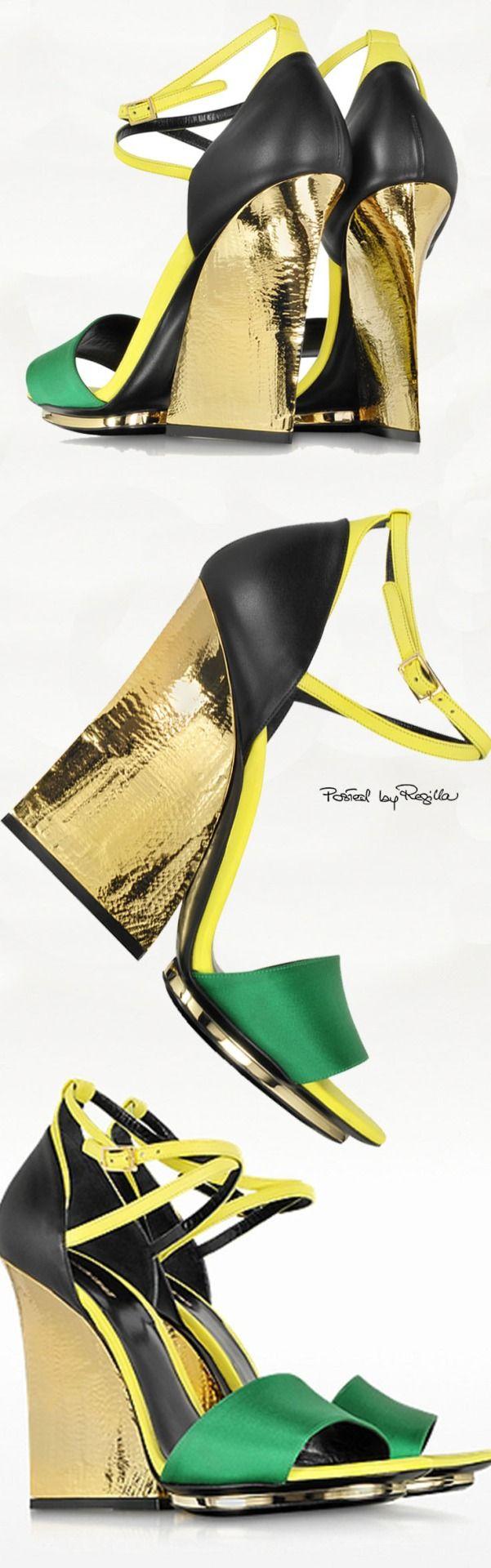 Jamaican sandals shoes - Roberto Cavalli Shoe Wedgeswedge Sandalsshoes