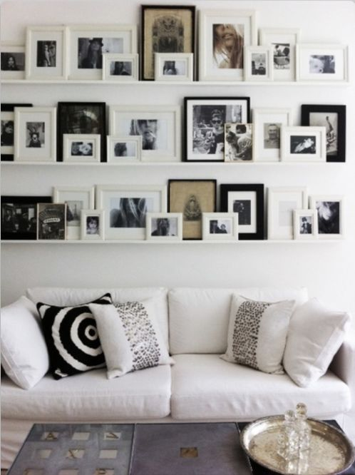 back wall of lounge idea. Can rearrange these endlessly.