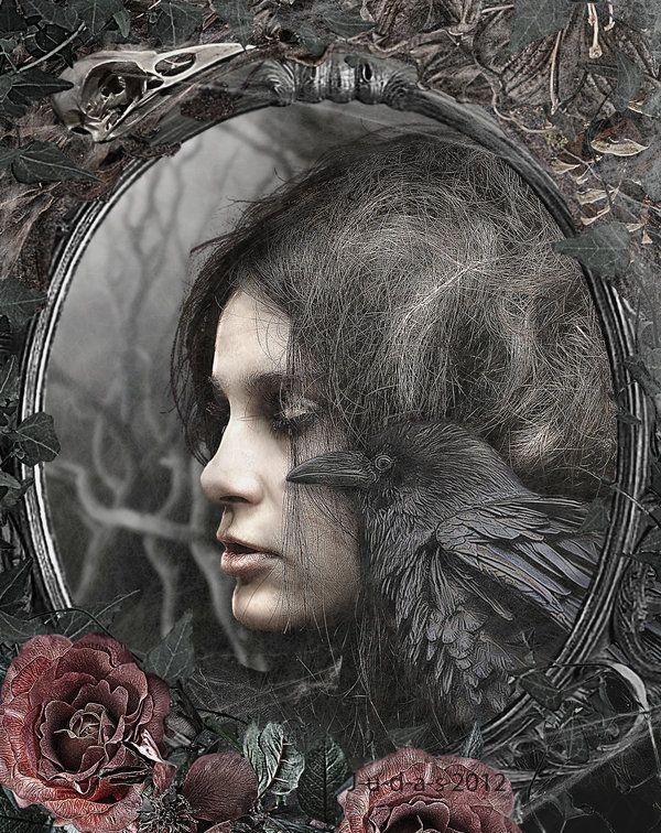 "Crows Ravens:  #Raven ~ ""Nevermore,"" by J-u-d-a-s, at deviantART."