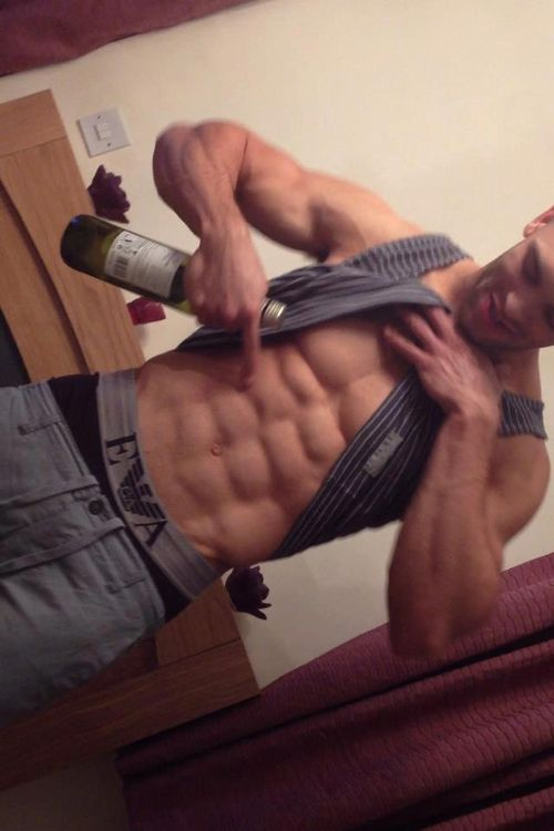 Eight pack abs cock