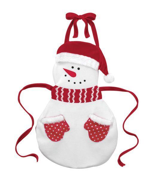 Delantal muñeco de nieve
