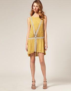 ASOS SALON Beaded Flapper Dress $310.30