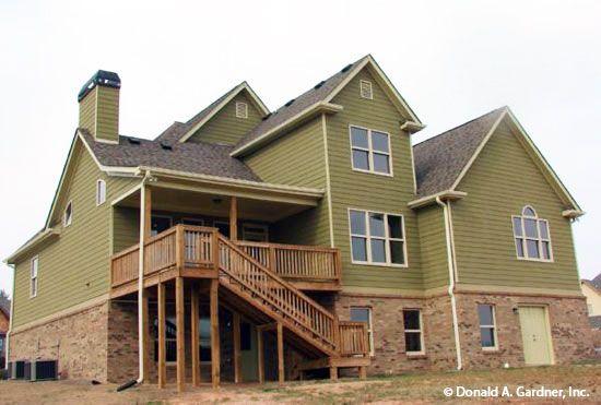 1000 images about rear exteriors on pinterest house for Hillside home plans walkout basement