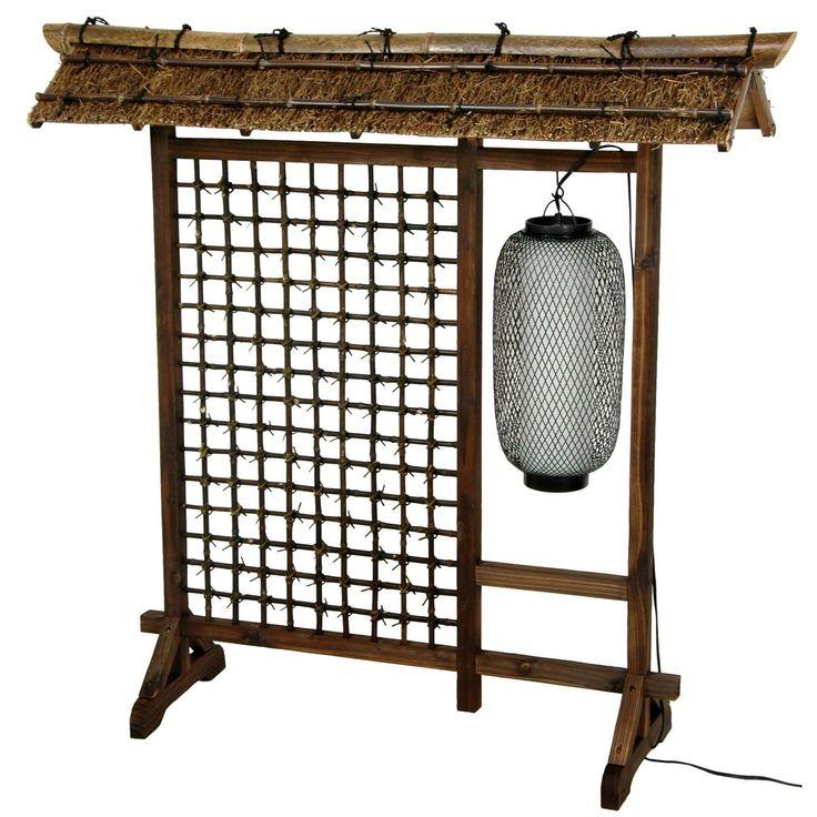 Tall Bamboo Lantern Room Divider   OrientalFurniture.com