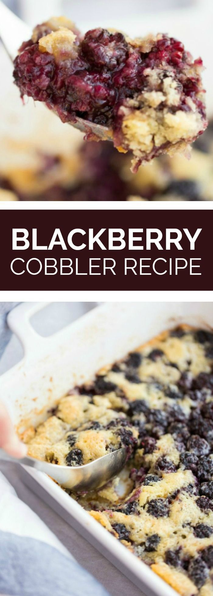 This the the Blackberry Cobbler recipe my grandmother used to make. It tastes amazing and is super easy. Totally remind me of my childhood every time we make it.