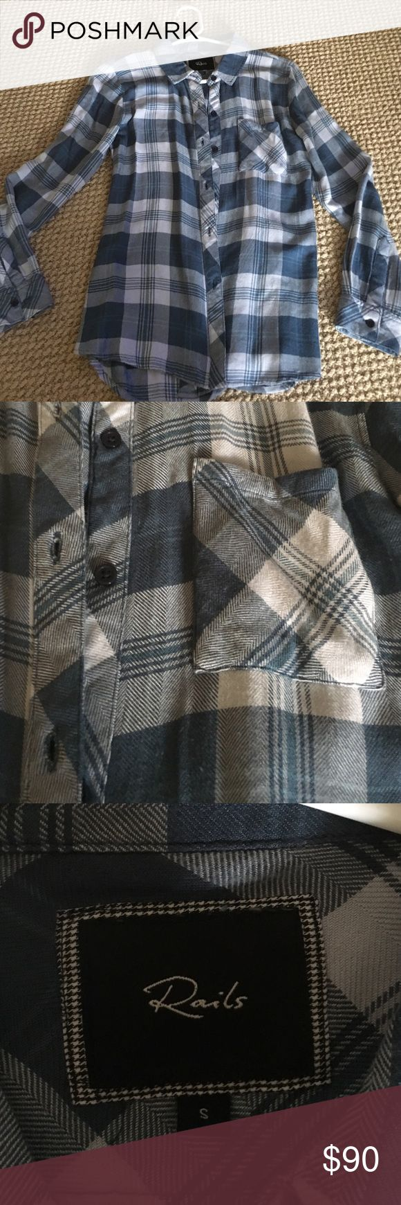 Rails Button Up Like new, only worn a couple of times. Rails Tops