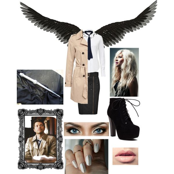 {:The Supernatural Collection:} ~Castiel~ by annabellalom on Polyvore featuring Theory, VILA and Easy Spirit