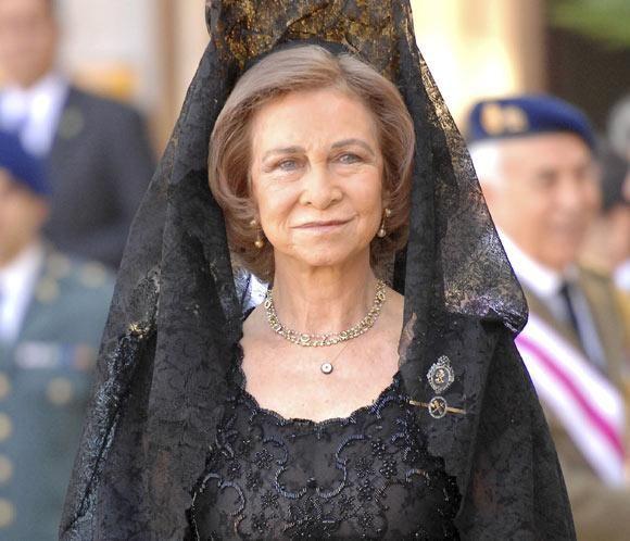 Reina Sofia con mantilla Española