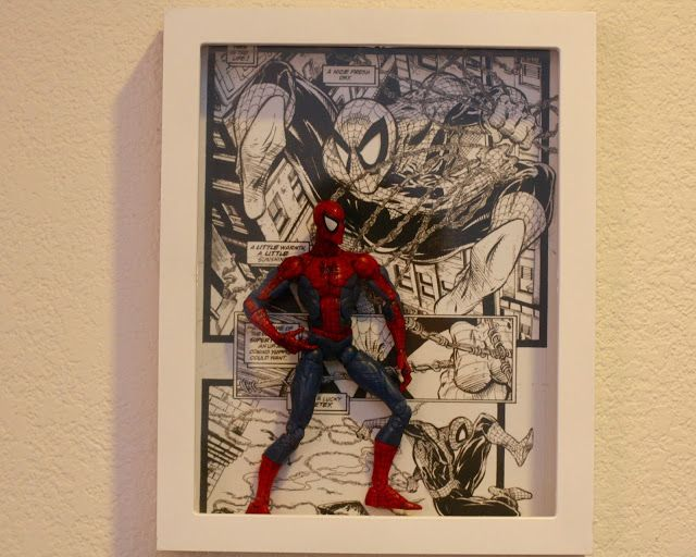 GEEK DIY BAM!: SPIDER-MAN ACTION FIGURE SHADOW BOX DISPLAY WALL ART DIY