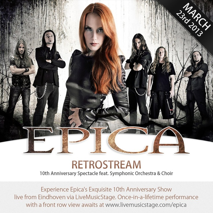 Female fronted symphonic metal band  Epica extended their 10th anniversary celebrations to international fans via LiveMusicStage in March 2013. Check out the pics from the gig at http://www.facebook.com/LiveMusicStage