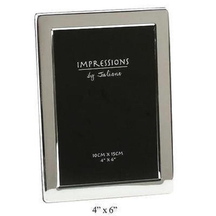 JULIANA IMPRESSIOS 4X6 STANDARD SILVER PLATED PHOTO PICTURE FRAME FS311F46