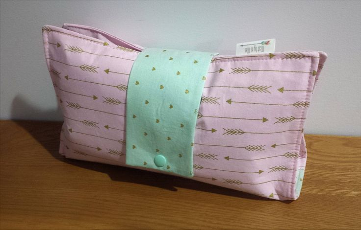 Ready to Post Handmade Nappy Wallet - Babyshower Gift - Metalicious Pink Arrow by MattynMe on Etsy